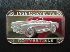 2001 SilverTowne 1956 Corvette Convertible Silver Art Bar ST-141 Lot P2614