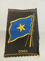 Vintage Congo Tobacco Silk The American Tobacco Co. Silk Flag Premium 3x2