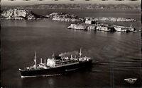 Marseille France CPA ~1950/60 Paquebot au large du Château d'If îles du Frioul