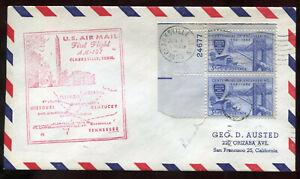 Scarce  6-1-1955 Clarksville TN First Flight Cover CAM #107NW64 Cat $13.50 A79