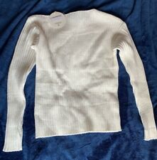 OFF THE SHOULDER JUMPER SIZE S/M NEW WITH TAGS NEVER WORN RIBBED ECRU