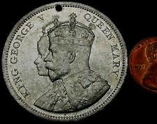 P607: 1911 famiglia reale britannica MEDAGLIA INCORONAZIONE-Giorgio V e Mary-LARGE
