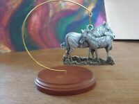 Schumann Zebra Pewter Orniment With Stand