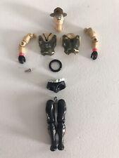 Vintage 1986 GI Joe Sgt Slaughter ARAH Mail Away Figure Cleaned & New Body Ring