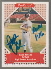 Autographed 1992 ProCards Matt Mieske - High Desert Mavericks