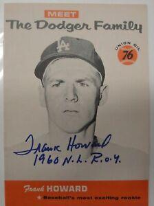 Frank Howard Hand Signed Autographed 1960 The Dodger Family Program 5x7 w/COA