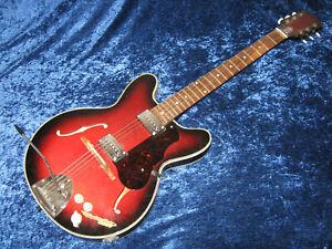 """Schöne, alte Halb-Akustik E-Gitarre von Klira """"Triumphator Electric"""", ca. 1960er"""