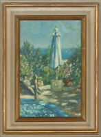 Impressionist Mid 20th Century Oil - By the Pool
