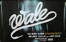 WALE original Interscope promotional poster, 2009, 11x17, EX, indie, Lady Gaga
