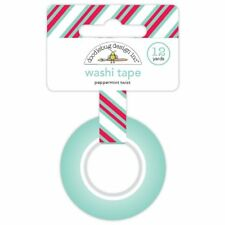 Scrapbooking Crafts Washi Tape Peppermint Twist Red Blue Stripes Christmas