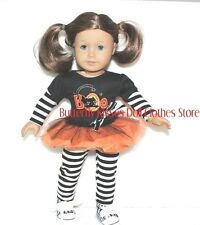 Boo Cat Halloween Tutu Skirt Set Fits 18 in American Girl Doll Clothes