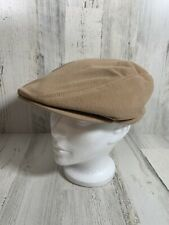 Vintage Stetson NewsBoy Cabbie Wool Hat Beige/Tan Size Medium - Made In USA