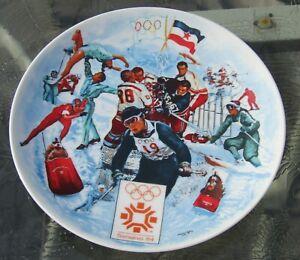 1984 The Official Winter Olympic Game Plate Sarajevo Yugoslavia Viletta  #1070A