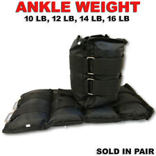 Strength Training Home Gym Ankle/Wrist Straps Weight Lifting Attachments 10-16lb