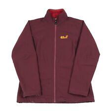 JACK WOLFSKIN Fleece Lined Softshell Jacket | Coat Sherpa Soft Shell Zip Bomber