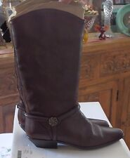 VTG Brown Leather Boots size 8M w/equestrian style -BEAUTIFUL CONDITION- Pre-Own