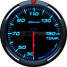 Defi Racer 52mm Car Oil Temperature Gauge - Blue - Stepper Motor - DF06704