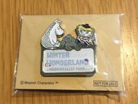 "Moomin Valley Park JP Limited Pin badge ""Winter Wonderland"",1.3x1.5in Silver"