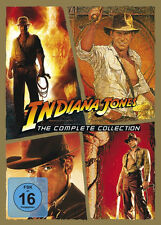 INDIANA JONES Teil 1 2 3 4 Complete Collection HARRISON FORD Spielberg 5 DVD Box