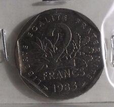 2 francs semeuse 1983 : TB : pièce de monnaie française