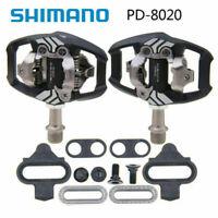 Fit Shimano Deore XT PD-M8020 SPD Trail MTB Clipless Bike Pedals Set (w/ cleats)
