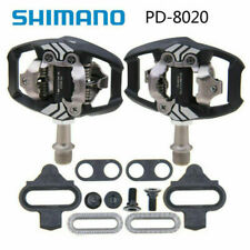 Fit Shimano Deore XT PD-M8020 SPD Trail MTB Clipless Bike Pedals Set (w/ cleats)