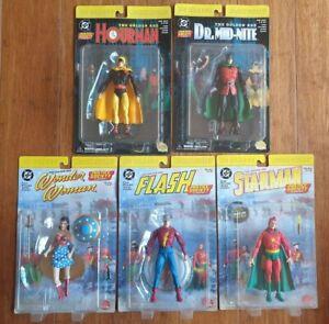 Justice Society Figure Set x5 - DC Direct - 2000 - Flash & Wonder Woman