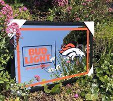 Bud Light Nfl Denver Broncos Football Beer Bar Mirror Man Cave Pub New