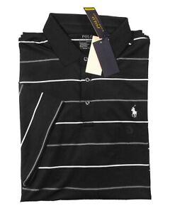 Polo Ralph Lauren Performance Men's Black Multi Stripe Interlock S/S Polo Shirt