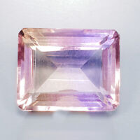 Gemstone jewelry Natural 18.25 Ct.Baguette Bi-Color Ametrine Africa/ S5099