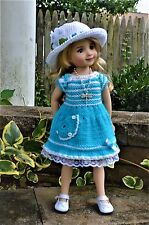 "Dianna Effner 13"" Little Darling OOAK Hand Knit 3pc OUTFIT for Summer Wear"