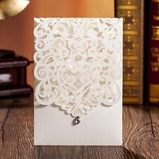 50sets Laser Cut Wedding Invitation Cards Engagement Gatefold Invite 18.6*12.8CM