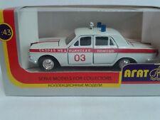 USSR AGAT Novoexport 1/43 Volga GAZ24 Ambulance Skoraja Medicinskaja Pomoszcz