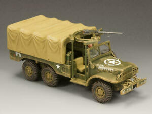 King & Country BBA038 U.S. Army Dodge WC63 1.5 Ton Truck With Machine Gun New
