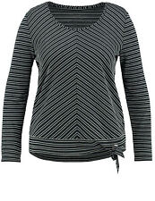 Samoon Longsleeve Shirt mit Knoten am Saum by Gerry Weber Neu Damen Gr.54