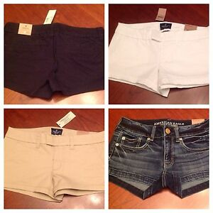 American Eagle Stretch Shortie Womens Low Rise Shorts - NICE!! - NWT