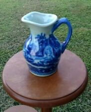 Blue & White Victoria Ironstone Creamer Small Pitcher Ceramic  SEP2020