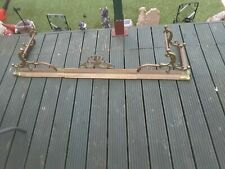Vintage ornate Brass Copper Extending Adjustable Fire Fender Hearth Surround
