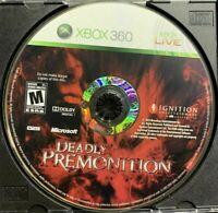RARE DISC ONLY Deadly Premonition Microsoft Xbox 360 Good-Acceptable CONDITION