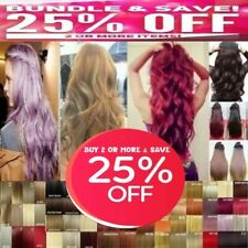 """Hair Extensions Real Thick 1PCS Half Head Clip In Long 18-28"""" feels human purple"""