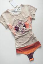 WAGGON PARIS - stretch - multicolored jersey print bodysuit L / 12