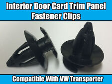 100x CLIPS FOR VW T3 T25 INTERIOR DOOR CARD PANEL TRIM LINING BLACK PLASTIC NEW