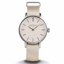 LOCMAN orologio donna solo tempo La doce vita 1960 cinturino nylon color  cipria