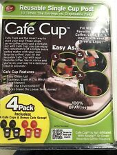 NEW As Seen on TV Cafe Cup Reusable Single Cup Pod