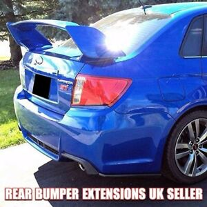 Fits 11-14 Subaru Impreza WRX STI   Rear Bumper Extensions Lip Apron Skirt Black