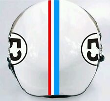 Herbie Motorcycle Helmet Decal Kit Gumballs and stripes Free shipping