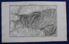 """Mapa Antiguo Original, España, bailen, """"le"""", Jaén, Andalucía, duvotenay, 1859"""