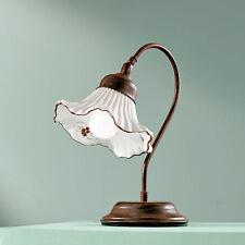 LAMPADA DA TAVOLO LUME 1L. CERAMICA CLASSICO RUSTICO COUNTRY SALOTTO CAMERA