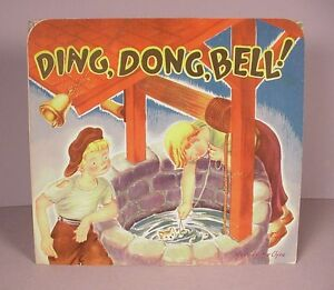 Vintage children's Pop Up Book ;  Ding, Dong Bell  Paper toy  by Geraldine Clyne