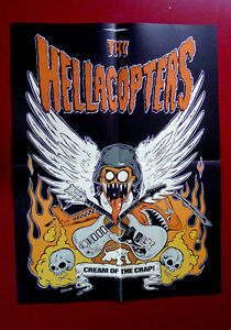 Hellacopters Cream of the Crap LP Vinyl Insert Poster 2002 OOP Gearhead Records